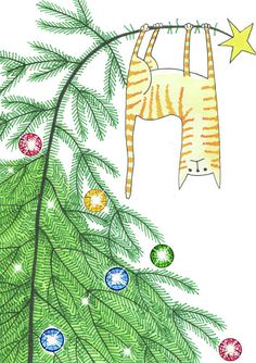 Christmas Drawing - Goodbye, Christmas Tree by Andrew Hitchen Easy Christmas Drawings, Christmas Doodles, Diy Christmas Cards, Christmas Printables, Christmas Crafts, Christmas Tree Zentangle, Kids Christmas Art, Painted Christmas Cards, Cat Christmas Tree