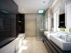 bathroom ideas without tiles