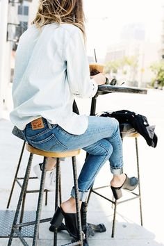 HEELED MULES - The '90s go-to is making a comeback in a big way. Both chunky- and stiletto-heeled versions were seen on nearly every recent runway and will likely hit your local mall soon. They work well with cuffed jeans and shift dresses alike.