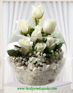 Balikesir Flower White Rose Arrangement- Balıkesi̇r Flowers – Flowers Online – Send Flower To Balıkesir Flower White Rose Arrangement - Floral Centerpieces, Wedding Centerpieces, Wedding Decorations, Modern Flower Arrangements, Deco Floral, Floral Design, Flowers Online, Amazing Flowers, Flower Vases