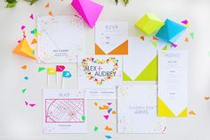 Neon wedding and party ideas