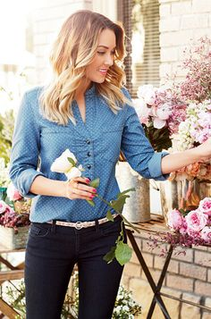 InStyle.com::  Lauren Conrad's Spring Collection for Kohl's - Chambray Blouse ($44)