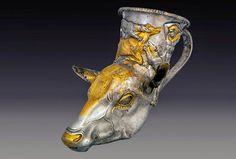 Rhyton à tête de cerf, première moitié du 4ème siècle avant JC, collection du Musée national de la Bulgarie.