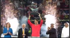 Roger Federer Champion Dubai 1 March 2014