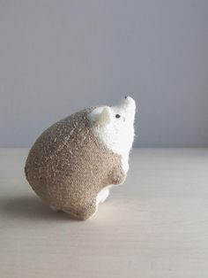 // hedgehog / soft sculpture animal by ohalbatross on Etsy