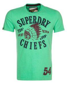 Superdry CHIEFS Tshirt imprimé vert