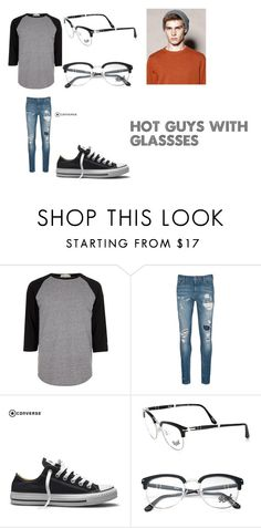 """hot guy"" by tabetha-the-evilprincess on Polyvore featuring River Island, Scotch & Soda, Converse, Persol, men's fashion and menswear"