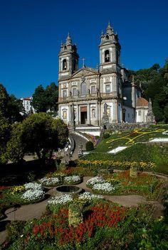Church of the shrine of Bom Jesus. Braga, Portugal