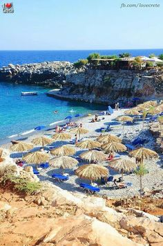 Marmara beach in Sfakia Crete, Greece Crete Island, Greece Islands, Places To Travel, Places To See, Greek Sea, Greece Pictures, Crete Greece, Exotic Places, Plein Air