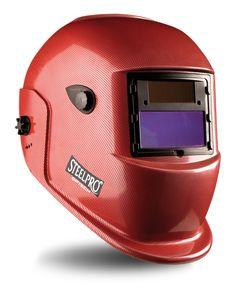 @marcaproteccion Pantalla de soldar electronica tono variable (4/9 -13). Color rojo. Características: Pantalla para soldar con filtro electrónico variable automáticamente al tono seleccionado (de 9 a 13),  para las chispas y radiaciones IR de los procesos de soldadura. Filtro auto-oscurecible de 110x90mm que ofrece una protección mínima UV tono 4 (tono claro) al tono seleccionado (tono oscuro de 9 a 13). Cubrefiltro exterior de policarbonato de 110x90mm y cubrefiltro interior. Fabricada en…