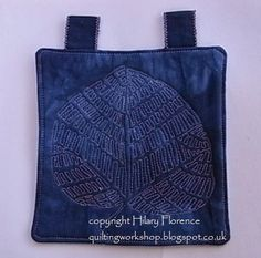 Leaf Print...Hilary Florence Quilting Workshop: The 101 Free Motion Quilted Cameos - so far!