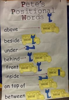 Positional Words with Pete the Cat: The Wheels on the Bus