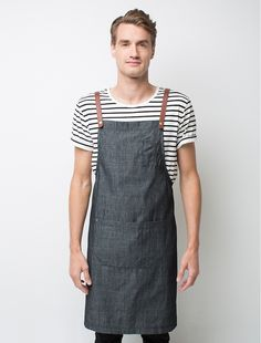 The Henry Bib Apron in Charcoal is a darker version of the original mocha and pebble colour ways. It is a versatile apron that can be effortlessly coordinated with a wide colour range to personalise your staff look, and is ideal for both retail and hospitality environments. This lightweight fabrichas a mildly-grainy vintage look that adds to its appeal, and you can customise your apron by selecting from our range of colourful 'Mix It Up' straps.Also available in Pebble,and Mocha, as…