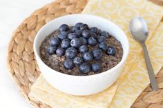 Hungry Girl's Healthy Blueberry Oatmeal Recipe (using steel cut oatmeal; slow cooker)