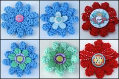 Crochet Flower Pictures: 6 Versions of the Abstract Flower Motif