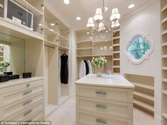 Take a stroll: A walk-in closet offered plenty of space to store clothes