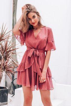 Rose poudrée Dobby Pois en Mousseline de soie Sheer robe chemise été tissu chemisier jupe Cape