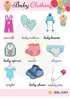 Baby Clothes Names: Children's Clothing Vocabulary with Pictures - 7 E S L