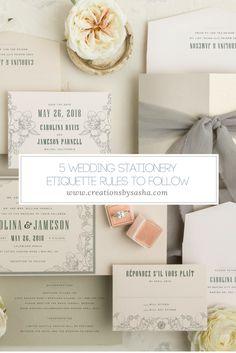 5 Wedding Stationery