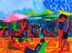 Beached by Giselle Vidal McMenamin Oil ~ 12 x 16