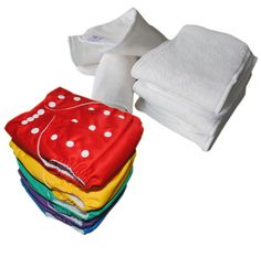 10pcs AIO Size baby Reusable Washable alva cloth diapers + 10 inserts nappy