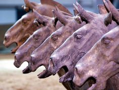 """and the winner is ..... """"Some of the Terra-cotta horses, along with approx 7000 Warriors discovered in 1974. They are guarding the tomb of Emperor Qin Shi Huangdi near Xi`an, Central China. Known as the """"Terra-cotta Army"""", they are now considered the 8th Wonder of the World,"""""""