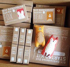 Sewing kit packaging - Restocked on kits! Love the new Fox & Bear kits so much – Sewing kit packaging Craft Packaging, Packaging Design, Coffee Packaging, Bottle Packaging, Label Design, Design Design, Graphic Design, Product Packaging, Packaging Ideas