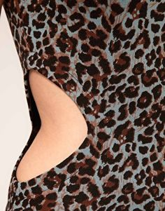 Enlarge Mags & Pye Animal Print Dress With Cut Out
