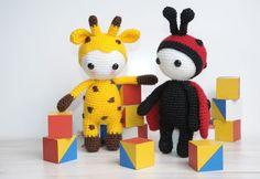 Amigurumi doll in ladybug costume - free pattern