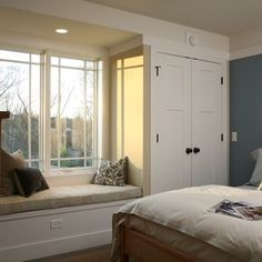 Wardrobe Built In Window Seat Design, Pictures, Remodel, Decor and Ideas - page 2
