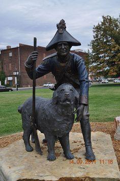 Meriwether Lewis and his Newfoundland dog Seaman