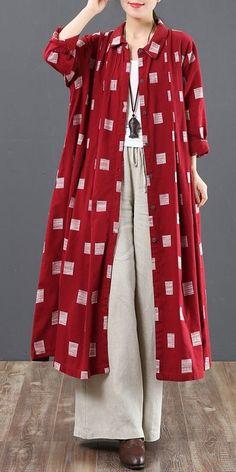 Women Long Button Down Cotton Shirt Loose Plaid Blouse 6128 Women Long Button Down Cotton Shirt Loose Plaid Blouse 6128 Muslim Fashion, Hijab Fashion, Fashion Outfits, Womens Fashion, Kurta Designs, Blouse Designs, Plaid Shirt Outfits, Flannel Shirts, Love Clothing