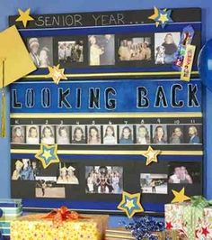 Graduation Photo Board  3 years and I will be making one of these...:'''(