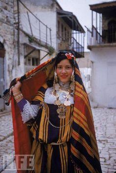 'Tunisian Jewish woman in wedding dress'