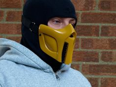Mortal Kombat Scorpion v2. Gloss Cosplay mask - Made to order - via Etsy