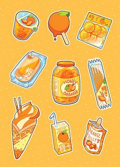 Orange food Orange food The post Orange food & Art / Drawings / Illustration etc appeared first on Food . Cute Food Drawings, Cute Kawaii Drawings, Arte Do Kawaii, Kawaii Art, Kawaii Doodles, Japon Illustration, Cute Illustration, Kawaii Stickers, Cute Stickers