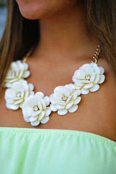 Flower statement necklace.
