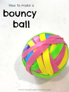How to make rubber bouncy balls - Laughing Kids Learn Art Activities For Kids, Infant Activities, Stem Activities, Crafts For Kids, Easy Crafts, Cool Science Experiments, Science Lessons, Bouncy Ball, Play Ideas