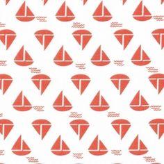 Dear Stella House Designer - Anchors Away - Sailboats in Orange