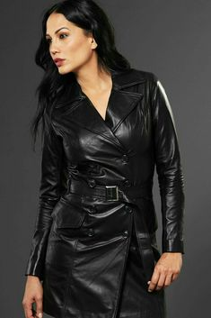 da47a403092 926 Best Long leather coat images in 2019