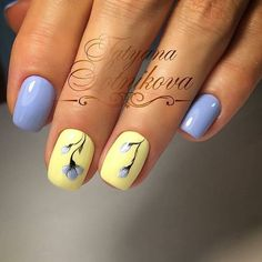 What manicure for what kind of nails? - My Nails Bright Summer Nails, Spring Nails, Nail Designs Spring, Nail Art Designs, Design Art, Design Ideas, Yellow Nails, Purple Nails, Pastel Nails