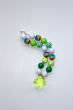 Hey, I found this really awesome Etsy listing at https://www.etsy.com/listing/177114941/st-patricks-day-chunky-bead-necklace-st