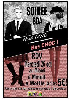 affiche soirée Haut chic-Bas choc