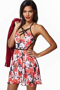 Nasty Gal Rose Darling Dress