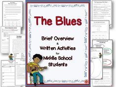THE BLUES!    Written and Research activities for Middle School Music students!!    #musiceducation      #musedchat