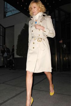 Charlize Theron wearing trench coat Double Breasted Trench Coat c74f82f81c