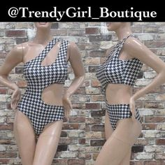 Trendy Print Swimsuit/ BodySuit