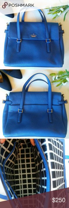 Blue Holden Street Small Leslie Kate Spade I love this blue handbag just in time for summer! In excellent condition. Sold out in Kate Spade stores and online! kate spade Bags Satchels
