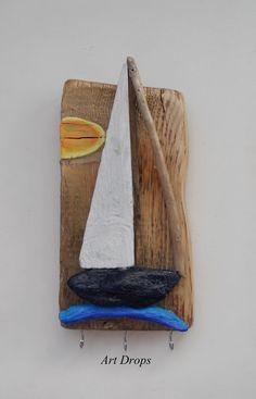 Quadro con il legno di mare