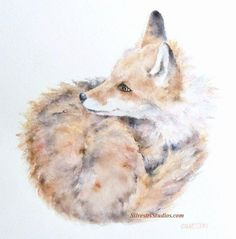 My fox watercolor is available as a cute art print and greeting cards.  Woodland animal prints are perfect for wildlife art lovers, in addition to nursery decor and wall art!  To view more animal art by Teresa Silvestri, visit www.SilvestriStudios.com